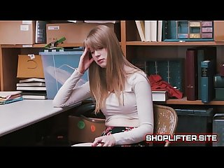 Surprising shoplifting amature backroom Sextape
