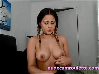 Young boobs on webcam - FULL video on nudecamroulette.com