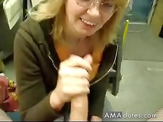 Another handjob at work
