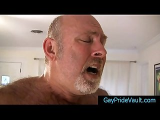 Old gay Bear fucking much younger dude by gaypridevault