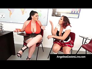 Curvy cuban angelina castro bangs gia love with a strap on