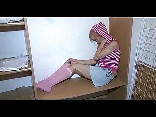 Cute hottie spreads legs wide open