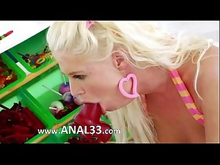 Candy in her both shocking holes