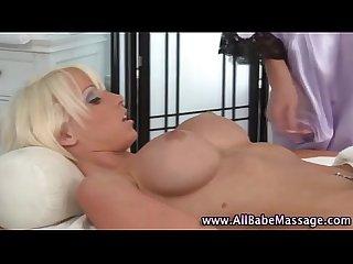 Blonde babes lesbian massage