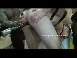 Teen gay punished and tied in bdsm sex