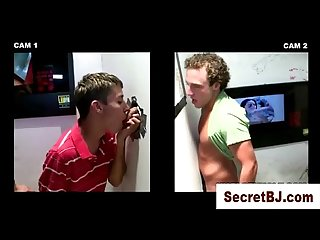 Nice straight guy fooled into gay BJ by gloryhole girl