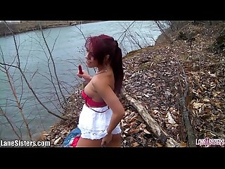 Shana lane s striptease at the park excl