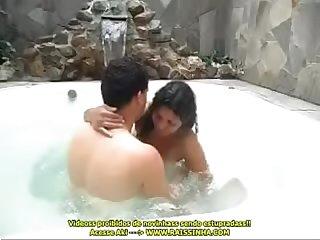 Vnia Morena foi Pro Motel com seu marido E foi Enrabada Na presso da banheira