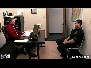 Sexy gays fucking in the office