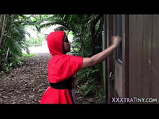 Teen red riding hood cum