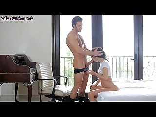 Sensual brunette jercking and sucking a dick