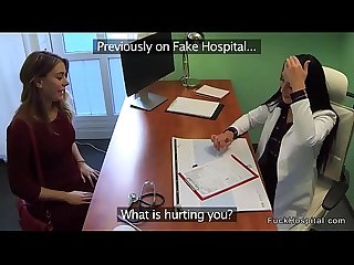Nurse and doctor fucks injured babe