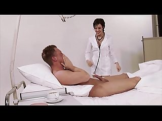 German nurse uniform hospital big natural tits brunette high heels big co