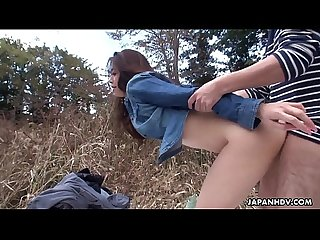 Japanese minx maki hojo had wild group sex outdoors uncensored