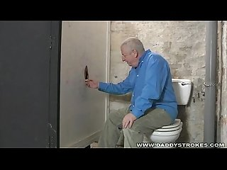 Glory hole cock sucking