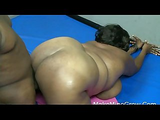 Black girl minxx drilled by a black cock