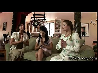 Perv fucks 3 wives in what it seem not to be a xxx parody of big love
