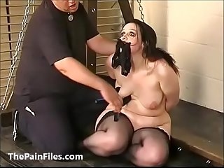Amateur slave Emmas electro bdsm and humiliation of bbw submissive in cruel humi