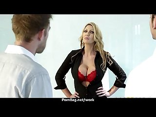 Busty chick is desperate for a raise and fucks her boss and earn it 12