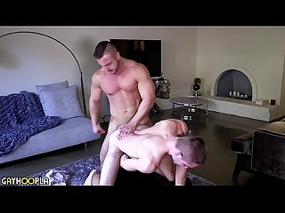 Beefy Hunk Fucks Hairy Otter Teen Hard Then Gives Him Facial