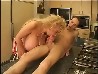 Echo Valley presents her man a cup of Brazil-water po'boy and her huge tits and pussy