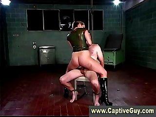 Bondage cock fucked hard