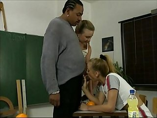 Black english teacher seduced during extra lessons