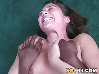 Ashley B enjoys gangbang with bbc