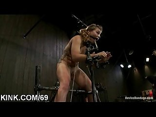 Hot pretty babe dominated, bound and fucked