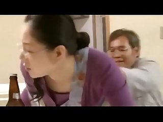 Japanese Milf gets fucked by guy while her husband was listening outside house - ReMilf.com