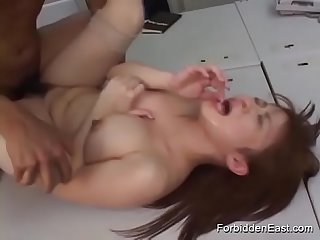 Pussy Popping Fun For Japanese Couple With Condom