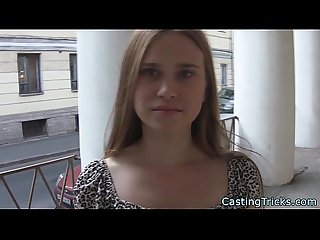 Fake casting action with amateur russian