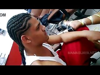Bellakiando con puta stripper en una barberia de pr pornfoda com