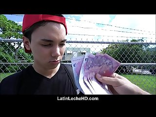 Amateur virgin latino boy in red baseball cap paid to fuck stranger he met on streets pov