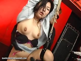 Wild japanese device suspension bondage sex