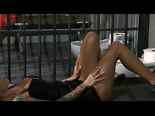 Two hot naughty lesbians fucking each other in prison