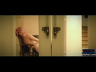 Amazing busty redhead MILF in lingerie hot masturbation