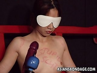 Captivating japanese hottie moans while being whipped