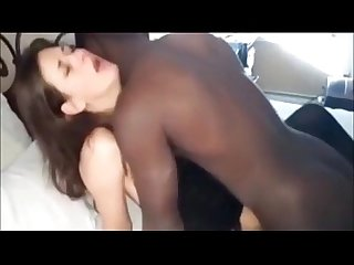 WIFE FUCKED MISSIONARY IN PANTYHOSE STOCKINGS BY HER BLACK LOVER BBC