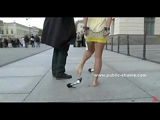 Brunette in public sex video and anal