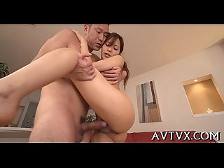 Explosive and juicy Japanese fellatio