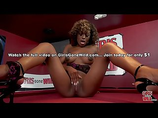 GIRLS GONE WILD - Beautiful, Young Black Woman Evi Rei Plays With Her Pussy For Us