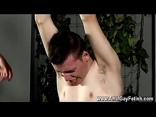 Nude gay male porn actors flogged and face fucked