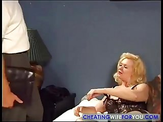 Old milf fucked by sons best friend