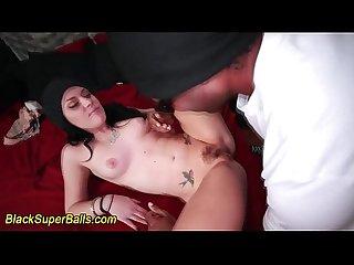White babe rides cock