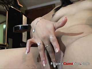 Mature MILF Asian Filipina gets naked and masterbates Asianwebcamgirls.net