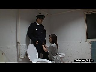 Asian prisoner sucking off the Guard S penis