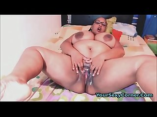 BBW Ebony With Monster Tits Enjoys Fingering Wet Pussy