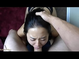 Brutal pov throatfuck for Asian Girl