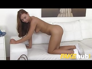 Fake agent shy european amateur seduced by casting agents big cock